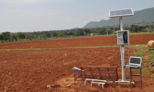 HYDRA probe soil moisture sensor in Berambadi watershed