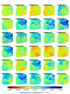 Surface soil moisture at higher (20 m) spatial resolution
